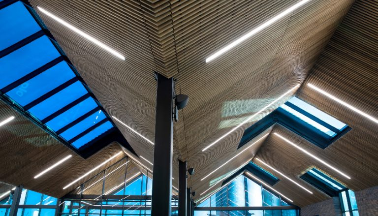 Hunter Douglas goes to Top of the Shop with ceiling for bingo HQ