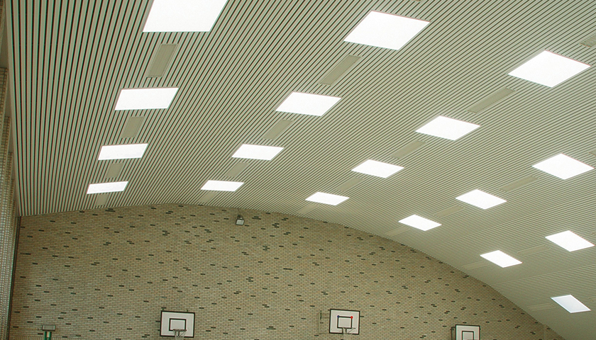 New sport hall ceiling systems from Hunter Douglas