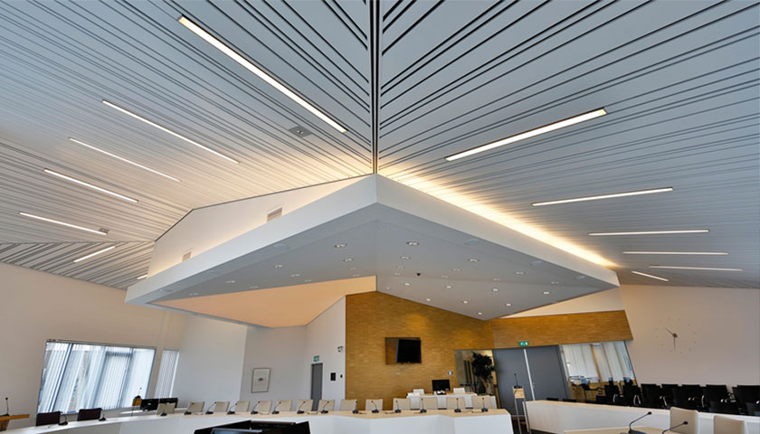 Creative Interior metal ceilings by Hunter Douglas