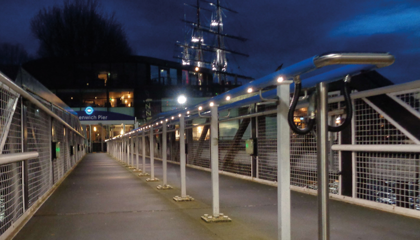 illuminated handrail