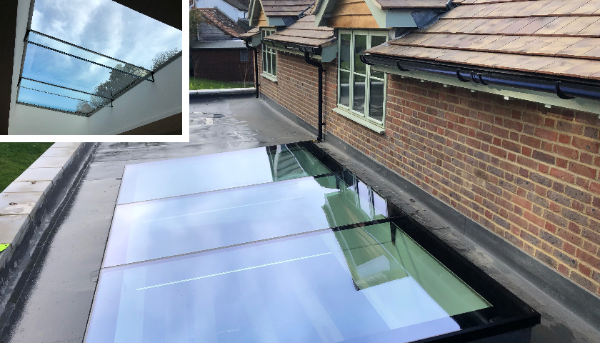 Howells new flat glass rafter rooflight, Ultraline, can now incorporate their new opening vent ..