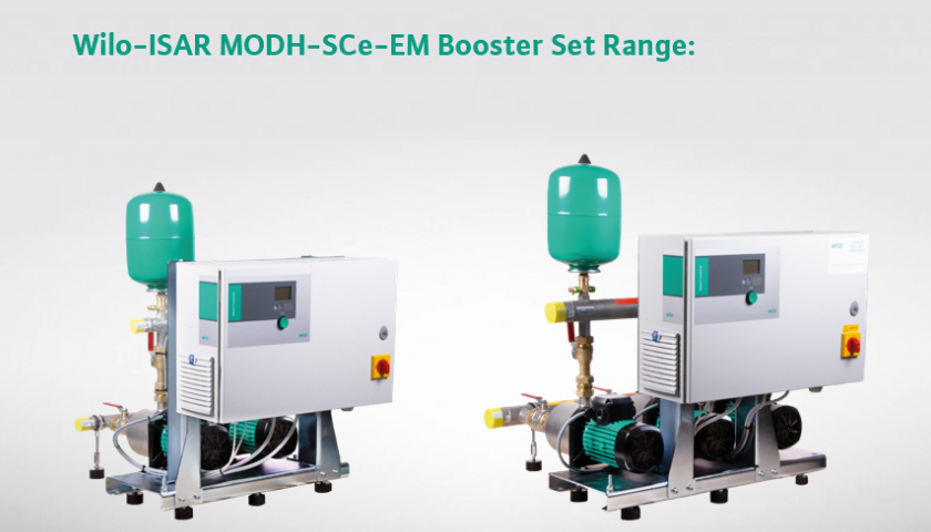 Wilo UK launches the new ISAR MODH/SCe cold water booster range