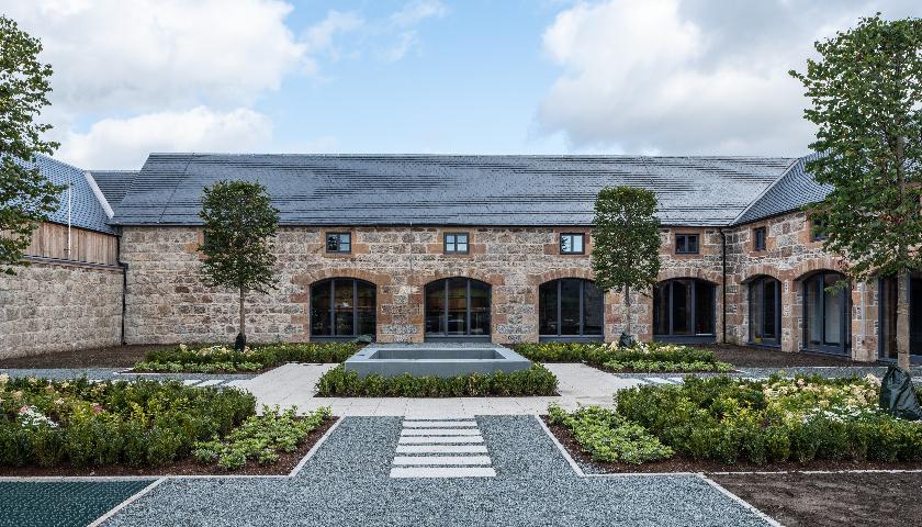 Heavy 3 Slate roof tiles used on Scottish whisky distillery